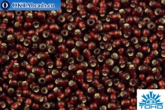 TOHO Beads Round Garnet Silver Lined Matte (25DF) 11/0
