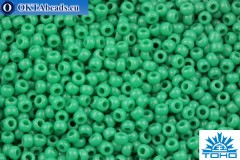 TOHO Beads Round Green Turquoise Opaque (55D) 11/0