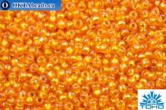 TOHO Beads Round Hyacinth Silver Lined Rainbow (2030) 11/0