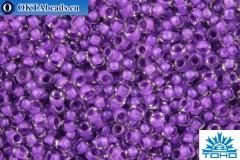 TOHO Beads Round Inside Color Crystal-Purple Lined (935) 15/0