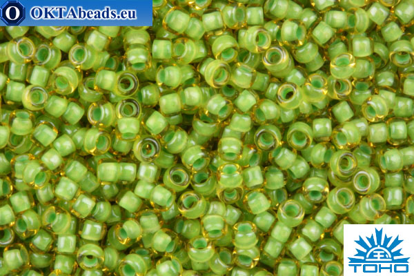 TOHO Beads Round Inside Color Jonquil/Mint Julep Lined (945) 15/0