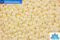 TOHO Beads Round Light Cream Opaque Luster (123L) 11/0