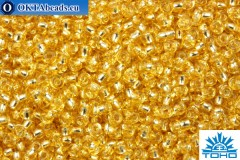 TOHO Beads Round LightGolden TopazSilver Lined (22A) 11/0