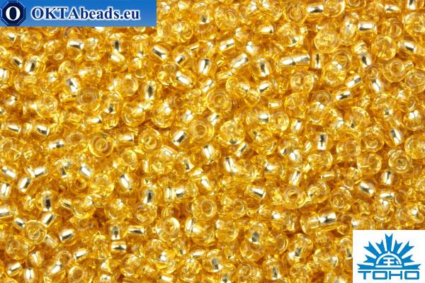 TOHO Beads Round LightGolden TopazSilver Lined (22A) 11/0 TR-11-22A