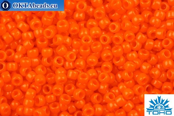 TOHO Beads Round Light Orange Opaque (42D) 15/0 TR-15-42D
