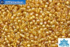 TOHO Beads Round Light Topaz Silver Lined Rainbow (2022) 11/0