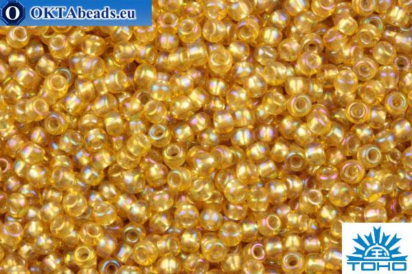 TOHO Beads Round Light Topaz Silver Lined Rainbow (2022) 11/0 TR-11-2022