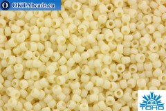 TOHO Beads Round Opaque-Frosted Lt Beige (51F) 11/0