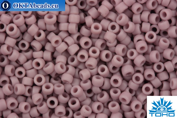 TOHO Beads Round Opaque Frosted Purple (52F) 15/0 TR-15-52F