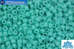 TOHO Beads Round Opaque Frosted Turquoise (55F) 15/0