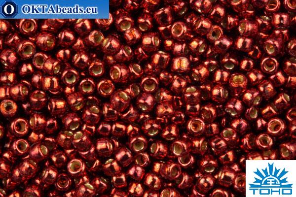 TOHO Beads Round PermaFinish Cabernet Galvanized (PF564) 15/0 TR-15-PF564