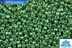 TOHO Beads Round PermaFinish Galvanized Jade Green (PF589) 11/0