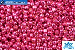 TOHO Beads Round PermaFinish Hot Pink Galvanized (PF563) 15/0