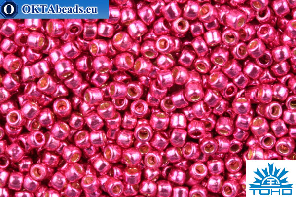 TOHO Beads Round PermaFinish Hot Pink Galvanized (PF563) 15/0 TR-15-PF563