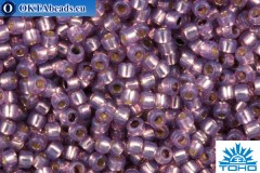 TOHO Beads Round PermaFinish Lavendar Opal Silver Lined (PF2108) 15/0