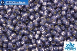 TOHO Beads Round PermaFinish Lilac Opal Silver Lined (PF2124) 15/0 TR-15-PF2124