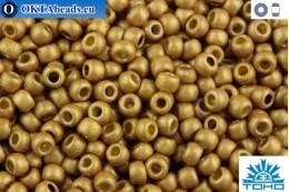 TOHO Beads Round Permafinish Matte Galvanized Golden Fleece (PF592F) 11/0 TR-11-PF592F
