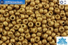 TOHO Beads Round Permafinish Matte Galvanized Golden Fleece (PF592F) 11/0 TR-11-PF592F