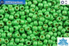 TOHO Beads Round Permafinish Matte Galvanized Green Apple (PF587F) 11/0 TR-11-PF587F
