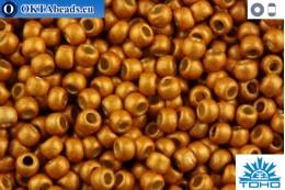 TOHO Beads Round Permafinish Matte Galvanized Old Gold (PF591F) 11/0 TR-11-PF591F