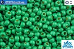 TOHO Beads Round Permafinish Matte Galvanized Spring Green (PF588F) 11/0 TR-11-PF588F
