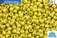 TOHO Beads Round Permafinish Matte Galvanized Yellow Gold (PF590F) 11/0