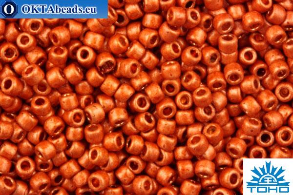 TOHO Beads Round PermaFinish Sun Burnt Orange Galvanized Matte (PF562F) 15/0 TR-15-PF562F