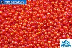 TOHO Beads Round Ruby Hyacinth Silver Lined Rainbow (2025) 11/0