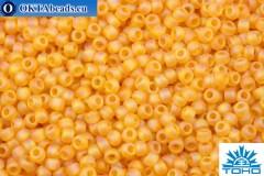 TOHO Beads Round Topaz Transparent Rainbow Matte (162BF) 11/0