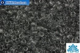 TOHO Beads Round Transparent Light Gray (9) 15/0 TR-15-9