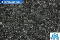TOHO Beads Round Transparent Light Gray (9) 15/0