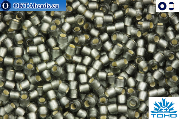 TOHO Beads Silver-Lined Frosted Gray (29BF) 11/0