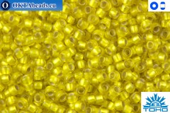 TOHO Beads Silver-Lined Frosted Lemon (32F) 11/0