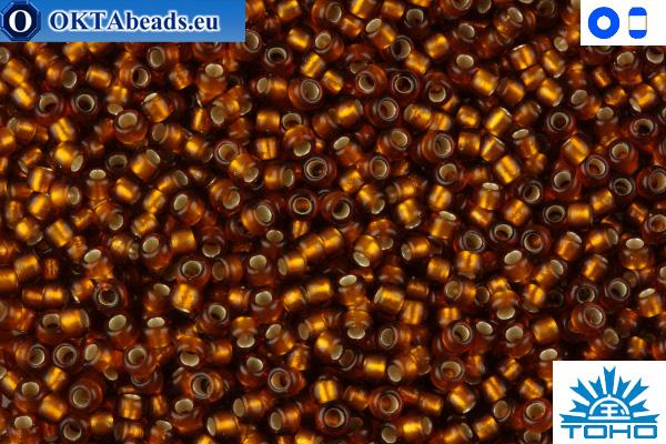 TOHO Beads Silver-Lined Frosted Smoky Topaz (34F) 11/0
