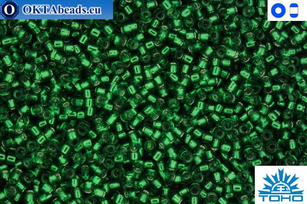 Toho Beads Silver-Lined Grass Green (27B) 15/0