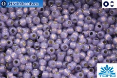 TOHO Beads Silver-Lined Milky Lavender (2124) 11/0