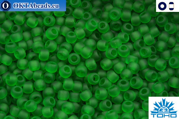 TOHO Beads Transparent-Frosted Grass Green (7BF) 11/0