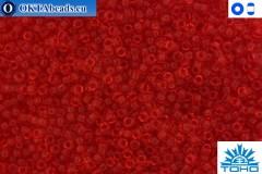 TOHO Beads Transparent Siam Ruby (5B) 15/0 TR-15-5B