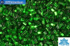 TOHO Beads Triangle Silver-Lined Grass Green (27B) 8/0 TG-08-27B