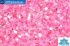 TOHO Beads Triangle Silver-Lined Pink (38) 8/0