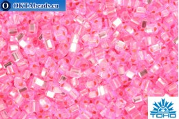 TOHO Beads Triangle Silver-Lined Pink (38) 8/0 TG-08-38