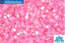 TOHO Beads Triangle Silver-Lined Pink (38) 8/0 TG-08-38