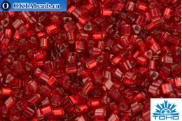 TOHO Beads Triangle Silver-Lined Ruby (25C) 8/0 TG-08-25C
