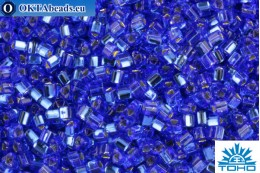 TOHO Beads Triangle Silver-Lined Sapphire (35) 8/0 TG-08-35