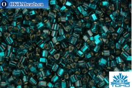 TOHO Beads Triangle Silver-Lined Teal (27BD) 8/0 TG-08-27BD