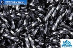 TOHO Крученый Стеклярус Metallic Hematite (81) 9мм, 10гр