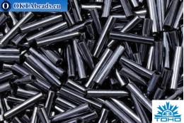 TOHO Стеклярус Metallic Hematite (81) 9мм, 10гр TB-03-81