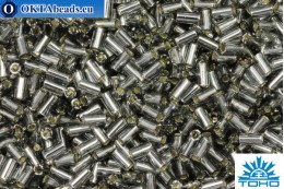 TOHO Bugle Silver Lined Gray (29B) 3mm, 10gr TB-01-29B