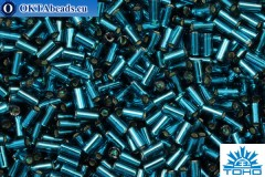 TOHO Bugle Silver Lined Teal (27BD) 3mm, 10gr
