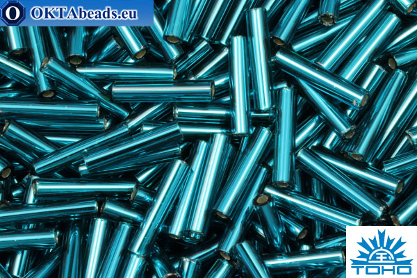 TOHO Bugle Silver Lined Teal (27BD) 9mm, 10gr TB-03-27BD